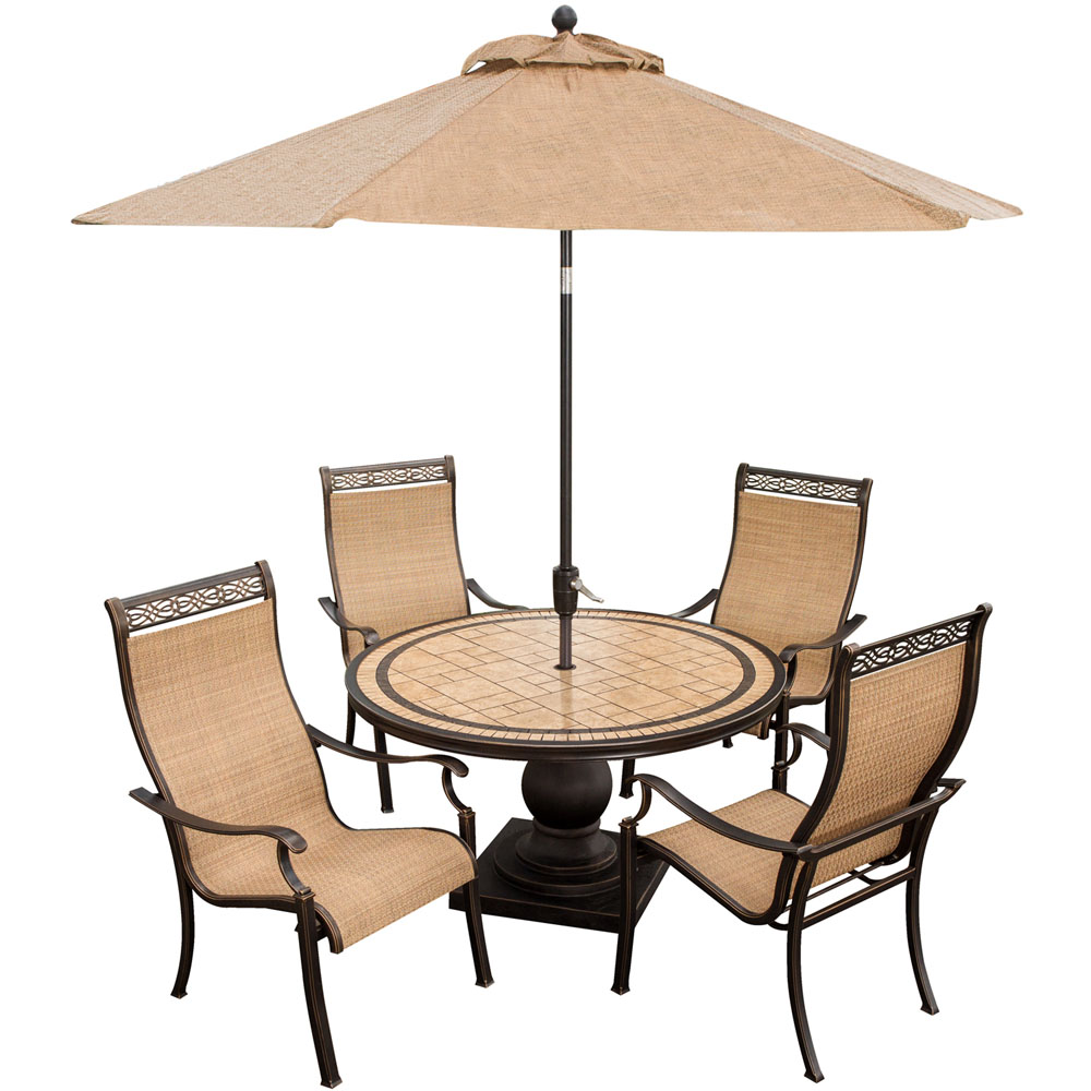 Monaco 5pc Dining Set(MONACO5PC),Umbrella(MONACOUMB)