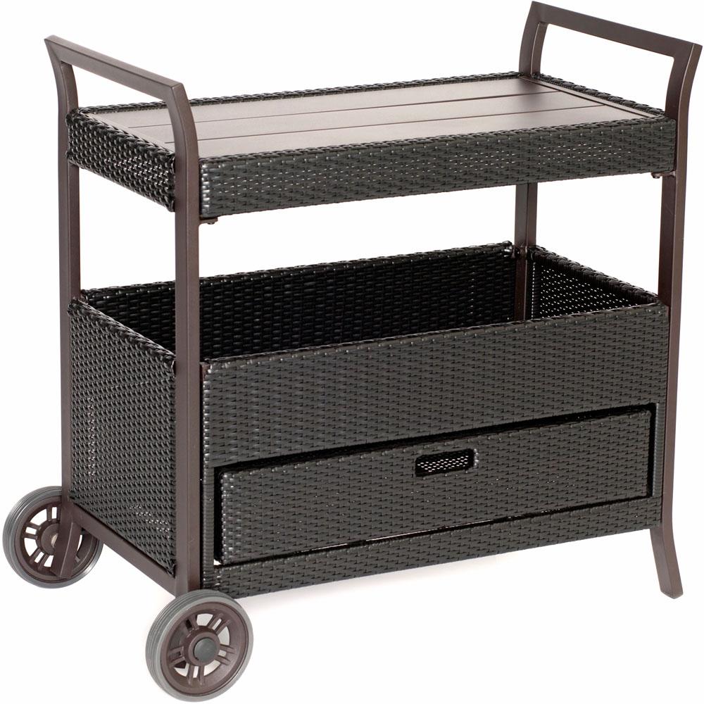 Hanover Aluminum/Woven Bar Cart