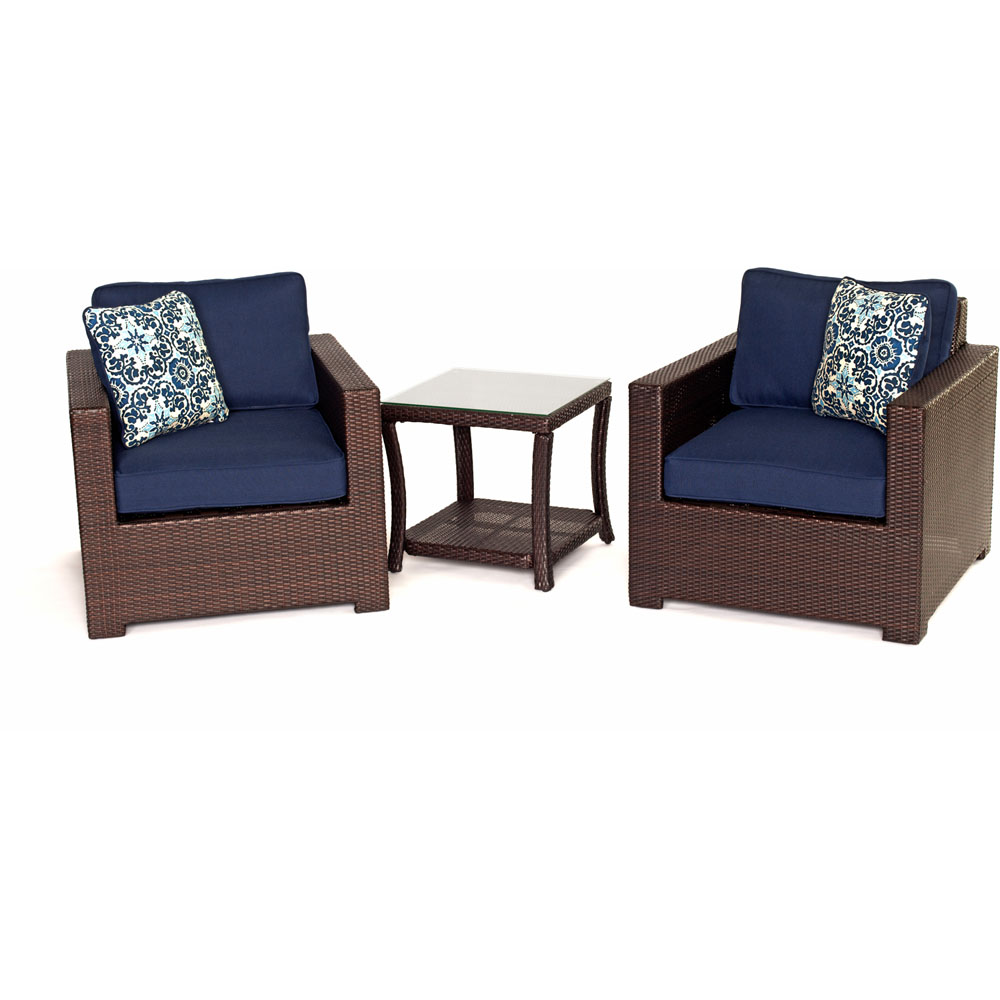 Metro3pc Seating Set: 2 Side Chairs, 1 Side Table