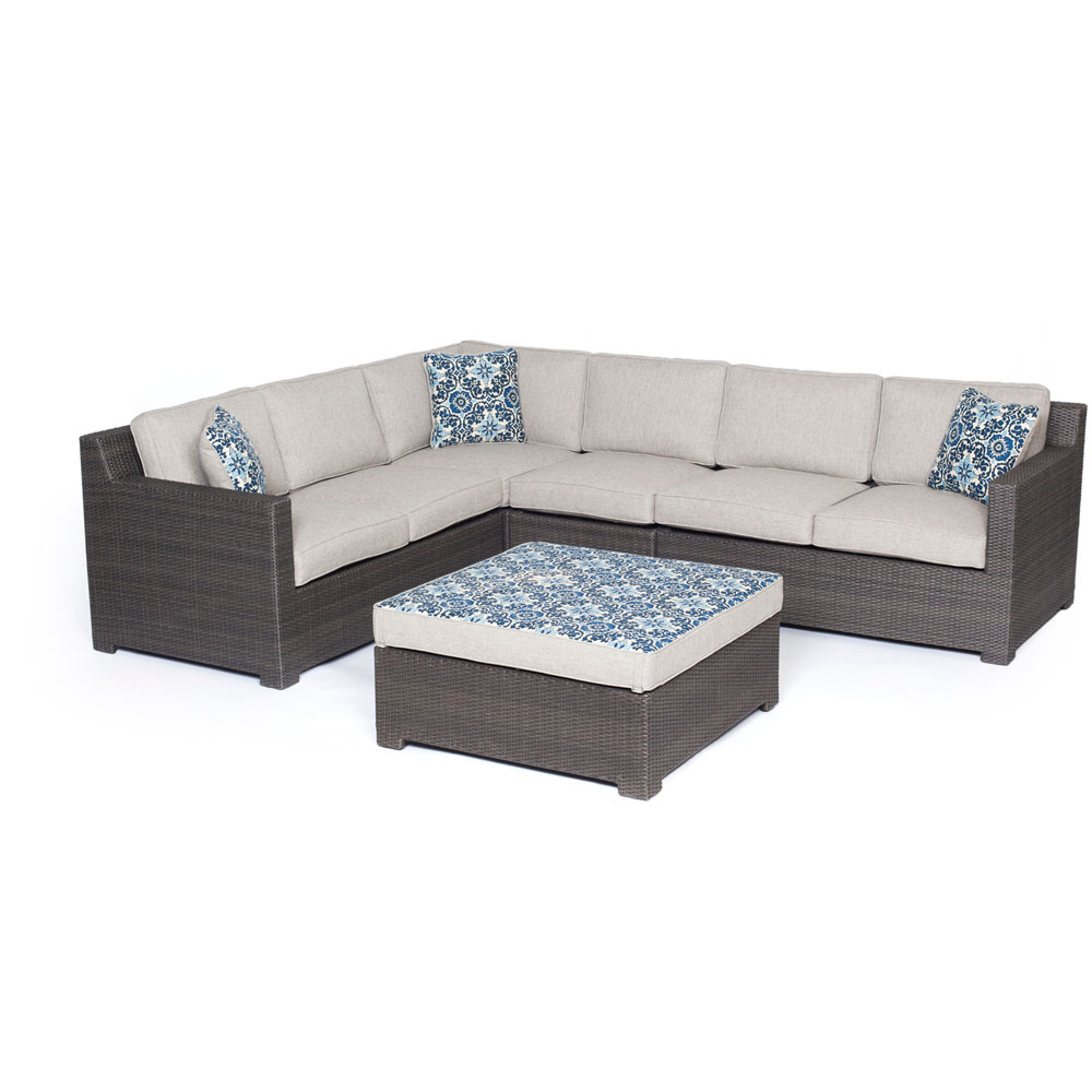Metro5pc Seating Set: Loveseat, Crnr Chr, Armls Chr, Reversible Ottoman