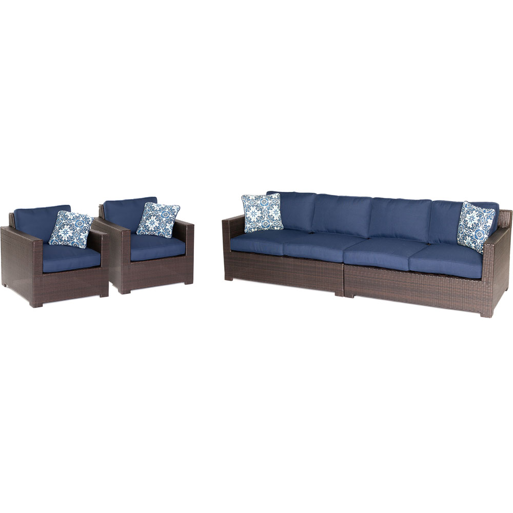 Metro4pc Seating Set: 2 Side Chairs, Right/Left Arm Loveseat