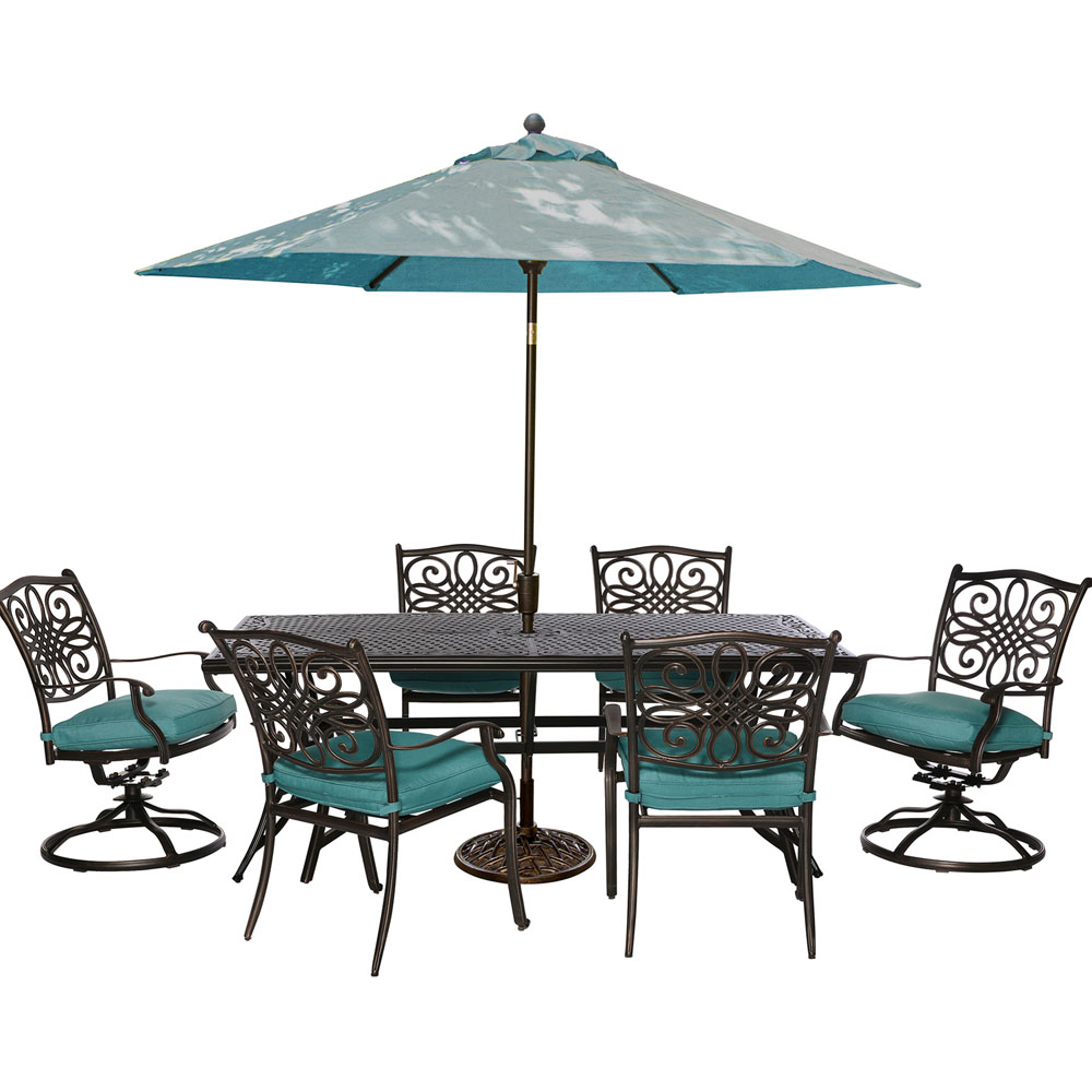7pc Dining Set(TRADITIONS7PCSW),Umbrll(TRADITIONSUMB)&Stnd(UMBRELLABASE)