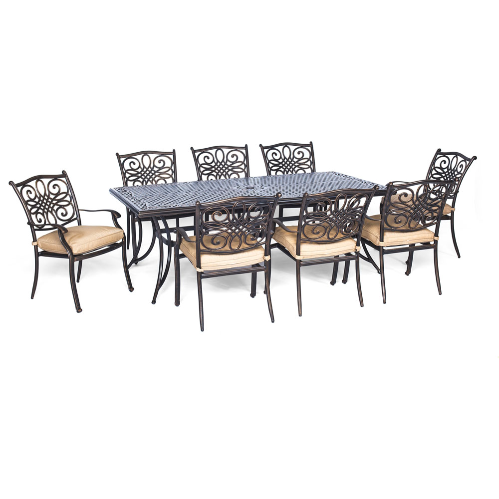 "Traditions7pc: 6 Dining Chairs, 38x72"" Cast Table"