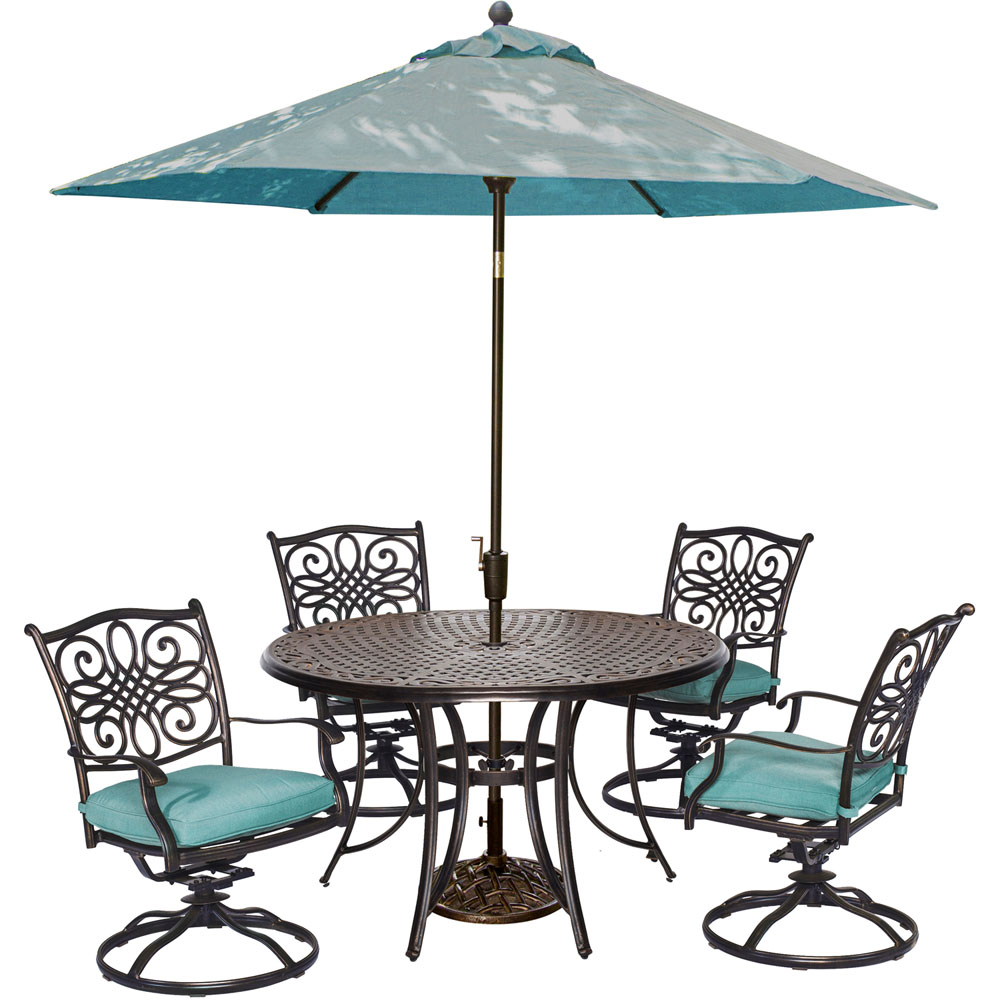 5pc Dining Set(TRADITIONS5PCSW),Umbrll(TRADITIONSUMB)&Stnd(UMBRELLABASE)
