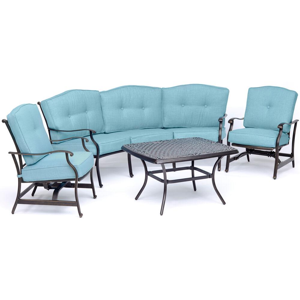 Traditions4pc Set: Sofa, 2 Cush Rockers, Cast Top Coffee Table