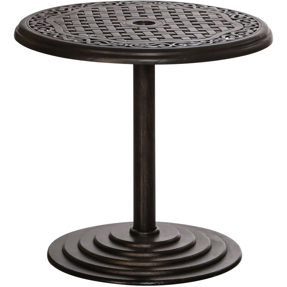 "Hanover 25"" Round Cast Umbrella Side Table"