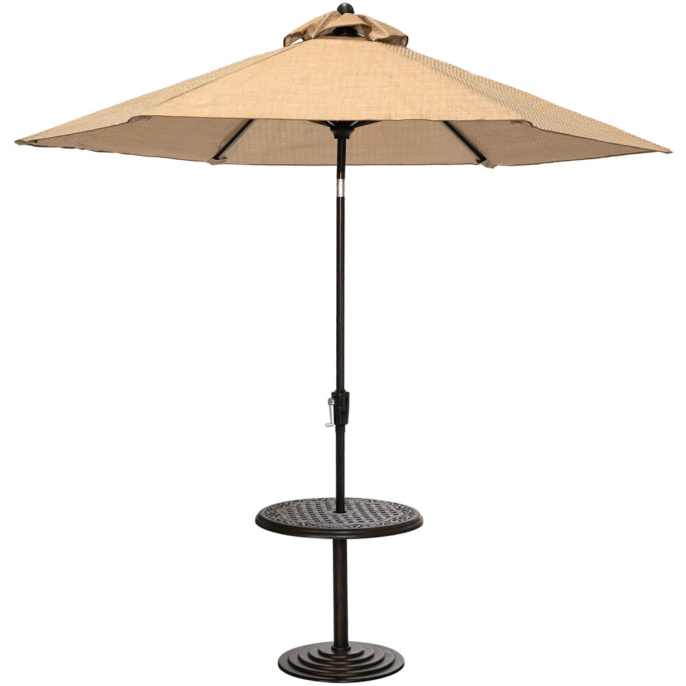 "Hanover 25"" Round Cast Umbrella Side Table with Umbrella"