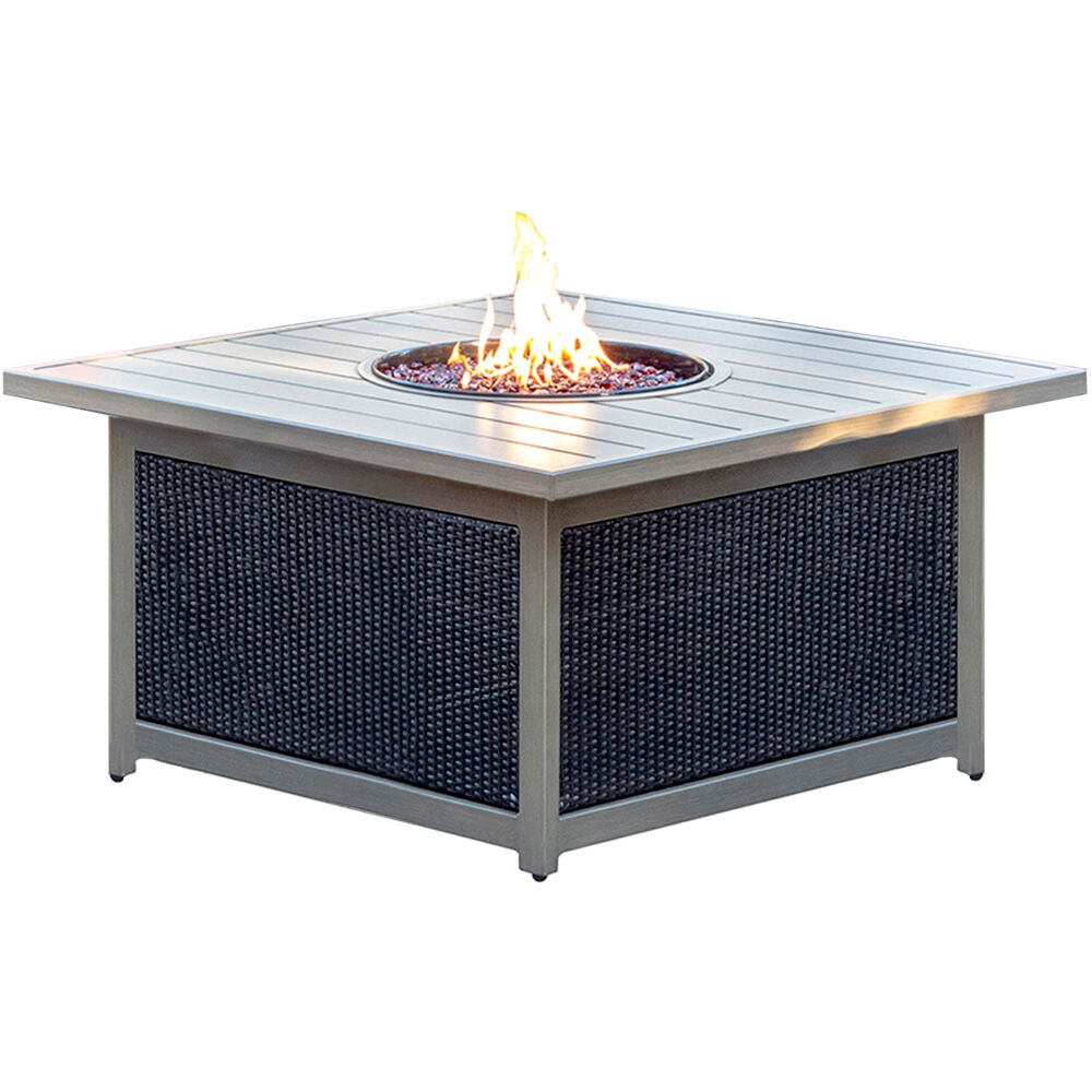 Montana Wicker Slat Top Fire Pit