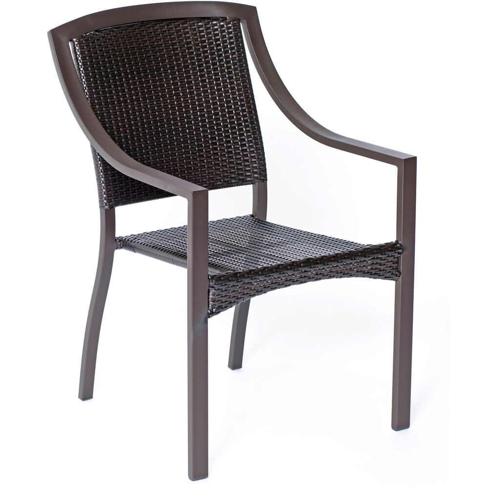 Aluminum Stacking Bistro Chair; Square Back