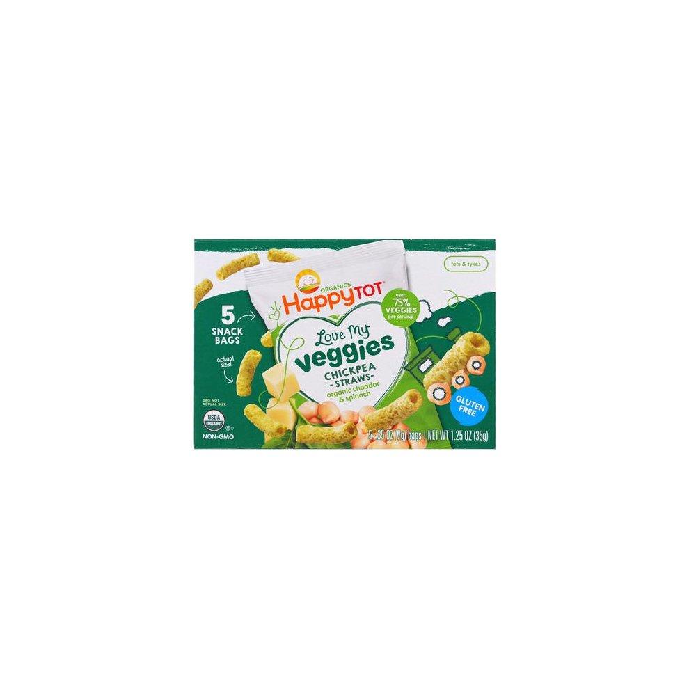 Organic Love My Veggies - Cheddar And Spinach Straws ( 6 - 1.25 OZ )