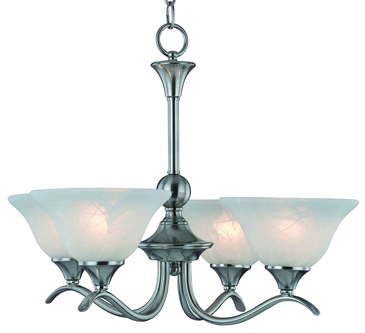 10-4029 Satin Nickel 4-Light Chandelier