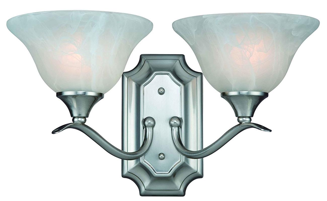 10-4692 Satin Nickel 2-Light Wall Light