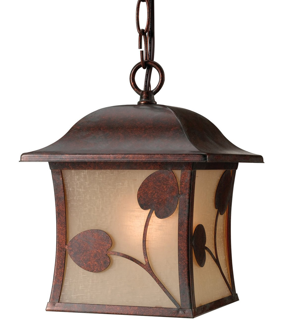 Madison 10-3527 1-Light Outdoor Hanging Light, Polished Bronze