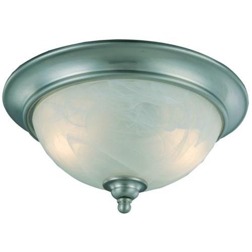 10-4449 Satin Nickel 2-Light Ceiling Light