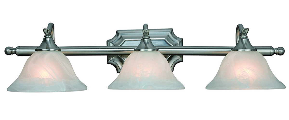 10-4777 Satin Nickel 3 Light Wall Light