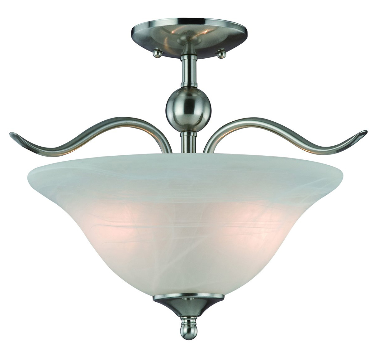 10-4289 Satin Nickel 2-Light Semiflush Light