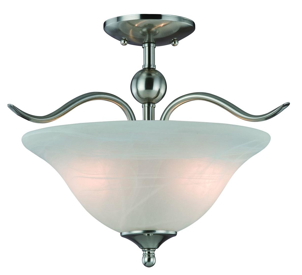 10-4289 Satin Nickel 2-Light Semiflush Light