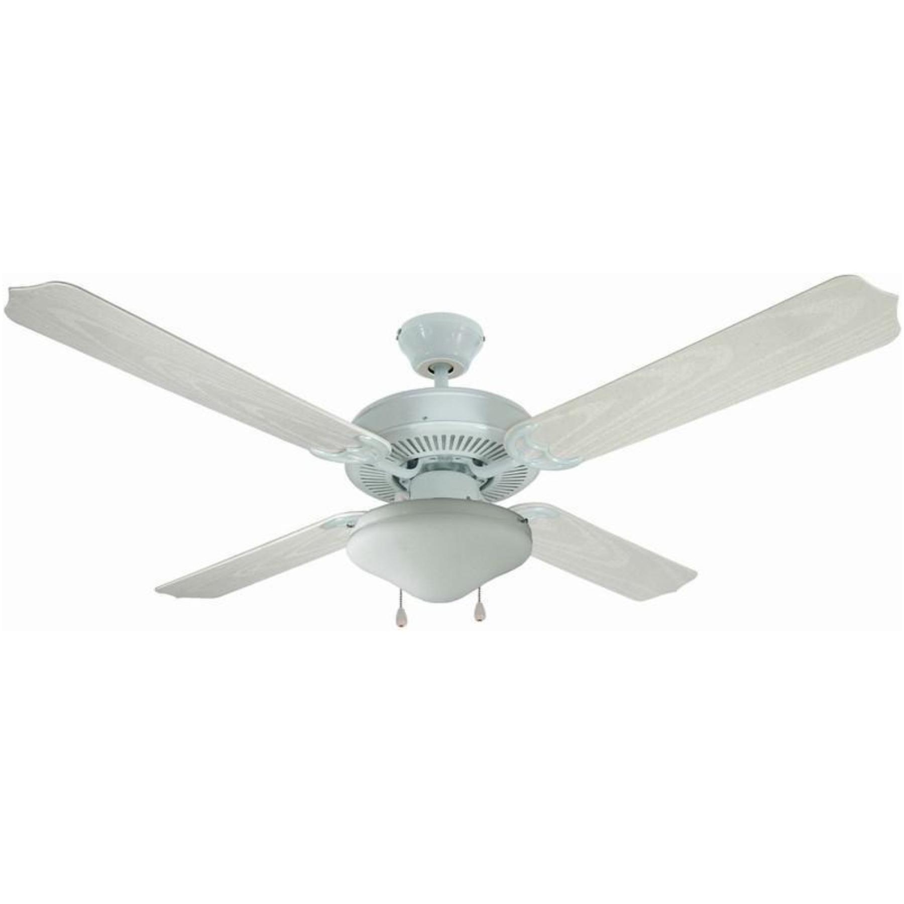 12-6977 White 52 In. Ceiling Fan