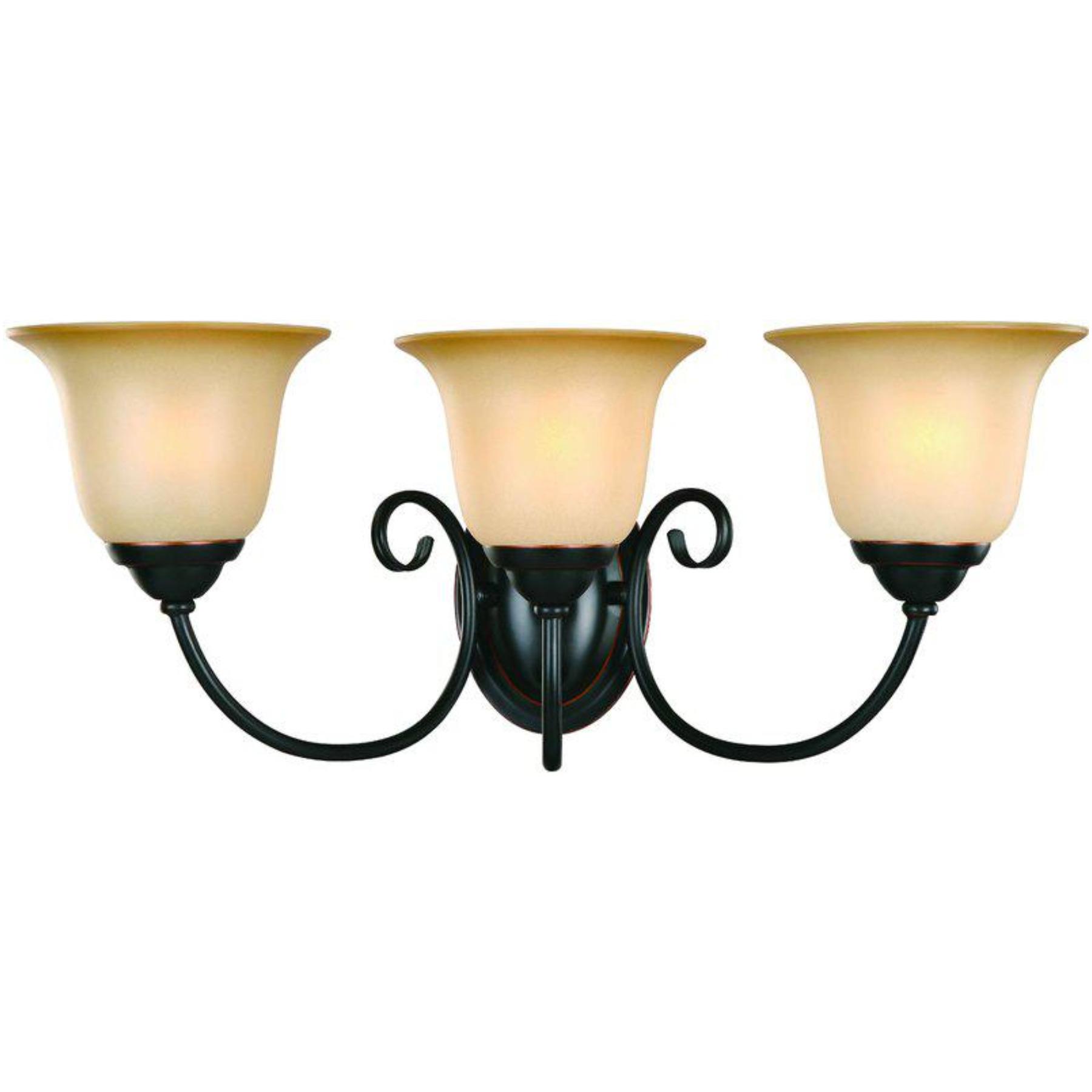 16-3835 Classic Bronze 3 Light Wall/Bath Light