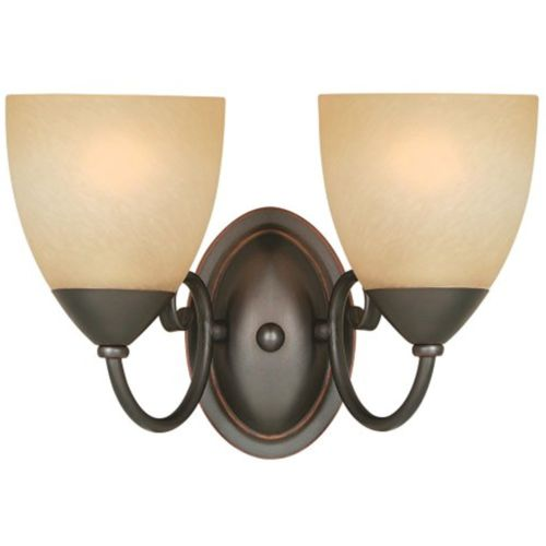 54-3827 Berkshire 2 Lights Wall/Bath Light Fixture, Oil Rubbed Bronze