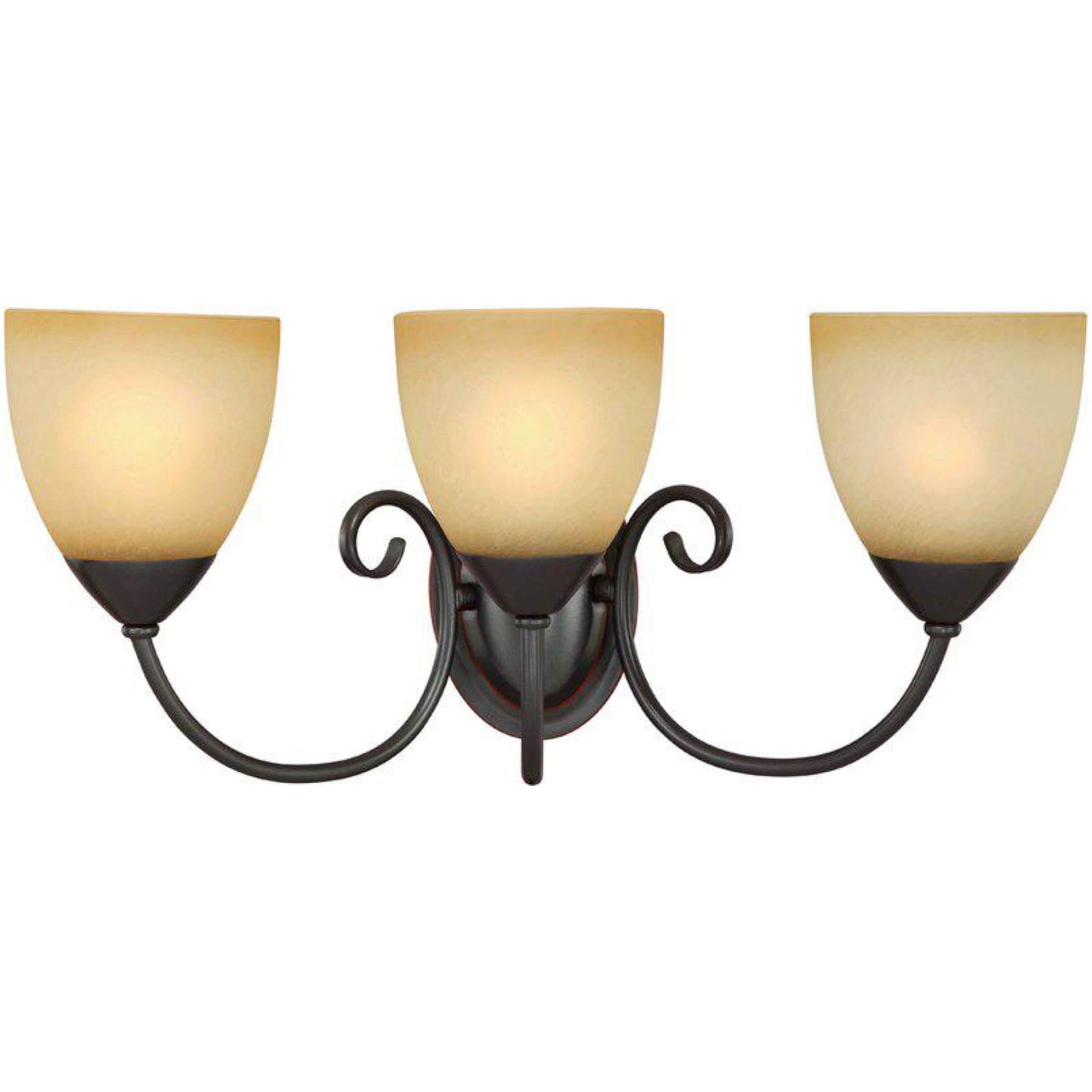 54-3850 Oil Rubbed Bronze 3 Light With Bath Light