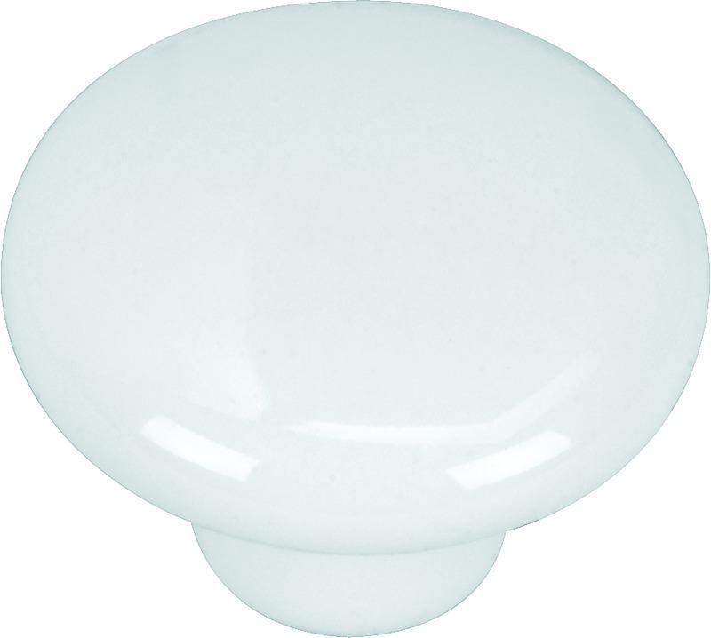 48-8981 1.25 IN. WH PORCELAIN KNOB