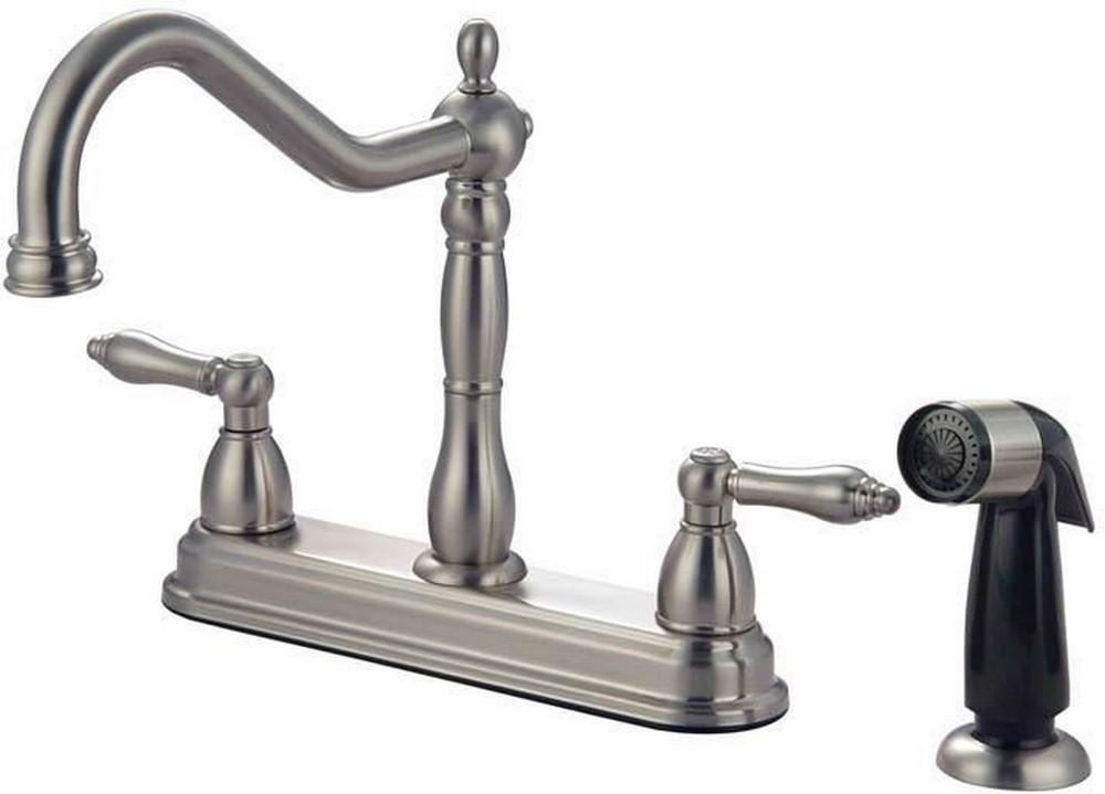 13-7119 Satin Nickel 2-Handle Kitchen Faucet