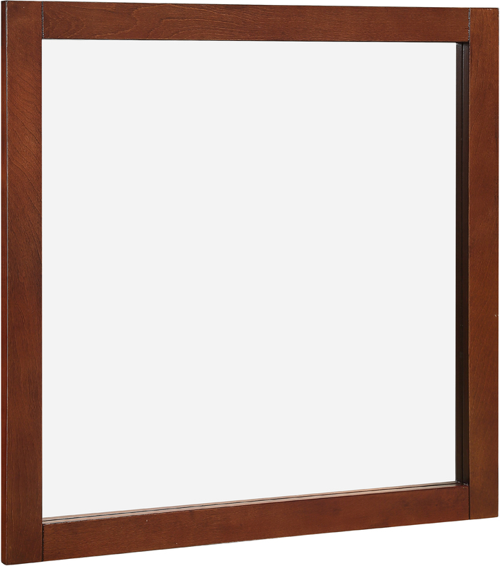22-7124 CHESTNUT 30X30 MIRROR