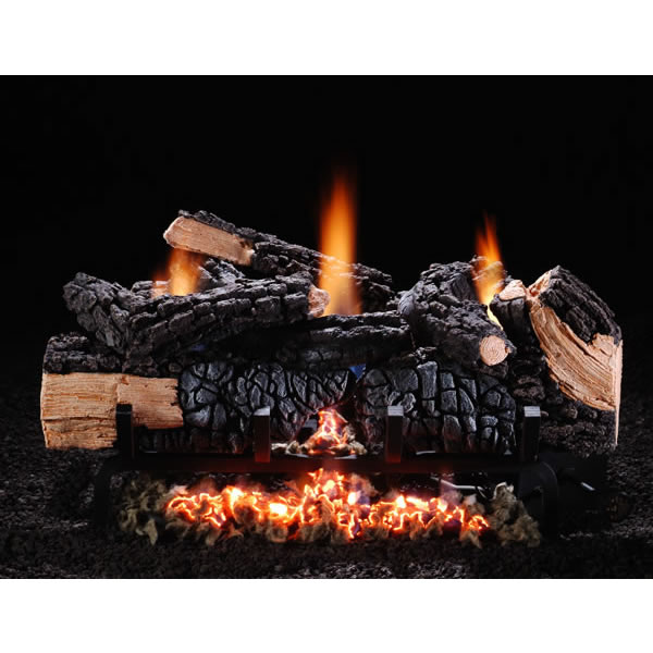 "24"" Cumberland Char Log Set, LP, Variable Flame"