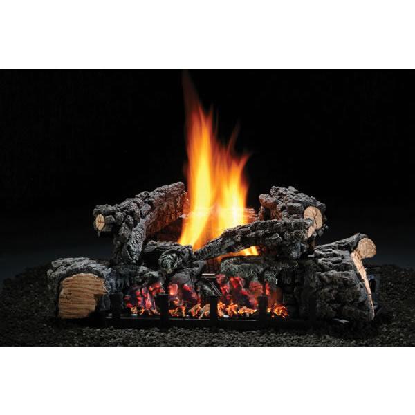 """22"""" Highland Glow Vent-free Log Set, NG, Variable Flame"""