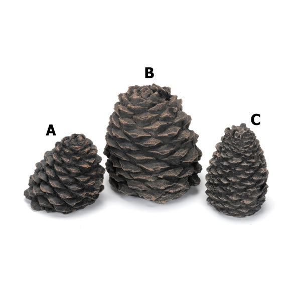 "Hargrove Small Straight Ceramic Pine Cone For Gas Logs, 4.5""h"