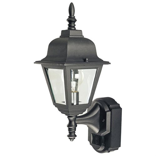 180 Degree Motion Activated Decorative Lantern, Black