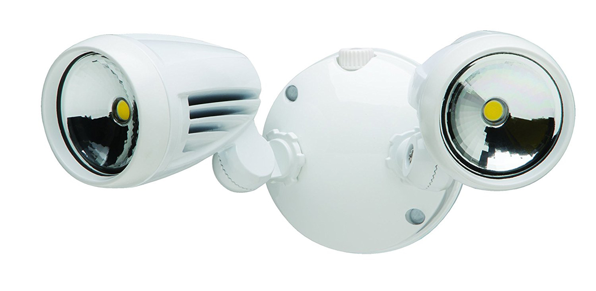 Heathco HZ-8485-WH-A Security Floodlights, Led ? Eave/Wall Mount, White