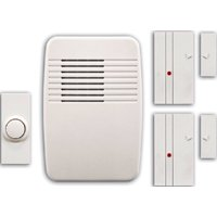 Heathco SL-7052-00 Plug-In Cordless Door Chime and Entry Alert Kit, 0 - 100 ft Operating, 9 Tone