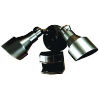 Dual Brite HZ-5597-BZ Security Light, 120 VAC, 200 W, Halogen, Bi-Pin, 100 W