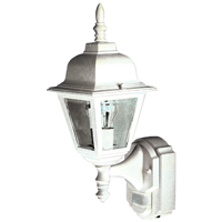 Heath Zenith HZ-4191-WH Dimmable Motion Activated Decorative Light, 120 VAC, 100 W, 60 Hz, 30 ft, 180 deg, White
