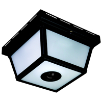 Heath Zenith HZ-4305-BK Motion Activated Decorative Light, 120 VAC, 25 W, 60 Hz, 30 ft, 360 deg, Black, Black