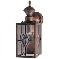 150 Degree Motion Activated Decorative Light, Rustic Brown
