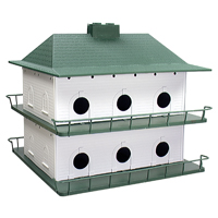 Purple Martin PH-12 Bird House 21 in W X 18 in H, Plastic, Green Floor/White Wall