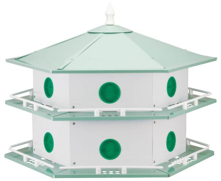 Purple Martin AH-12D Deluxe Bird House, 6 in L X 12 in W X 14 in H, Aluminum