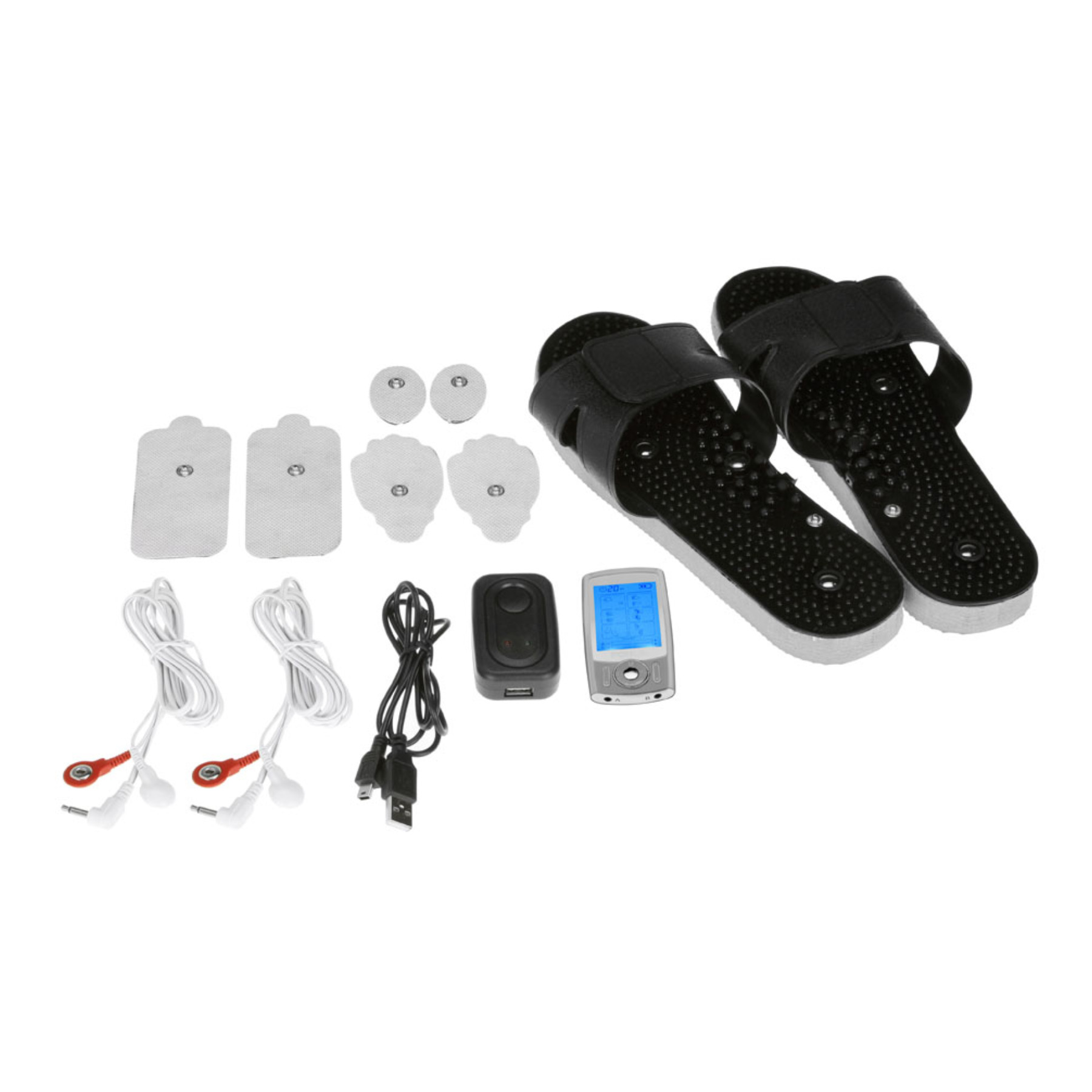 PCH Plus Digital Pulse Massager - Silver Shoe Combo Set