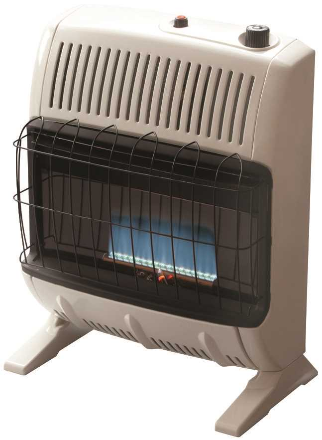 HEATSTAR VENT-FREE BLUE FLAME THERMOSTAT CONTROL PROPANE GAS HEATER, OFF-WHITE, 30K BTU
