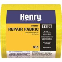 Henry HE183195 Acid Heat Resistant Roof Patch Fabric, 4 in W x 150 ft L, Fiberglass