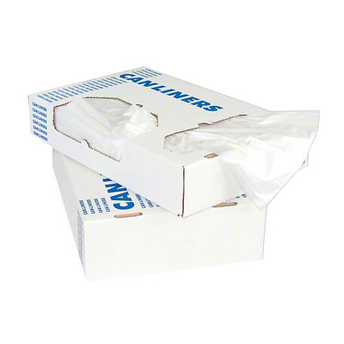 """Linear Low-Density Can Liners, 60 gal, 2 mil, 38"""" x 58"""", Clear, 100/Carton"""