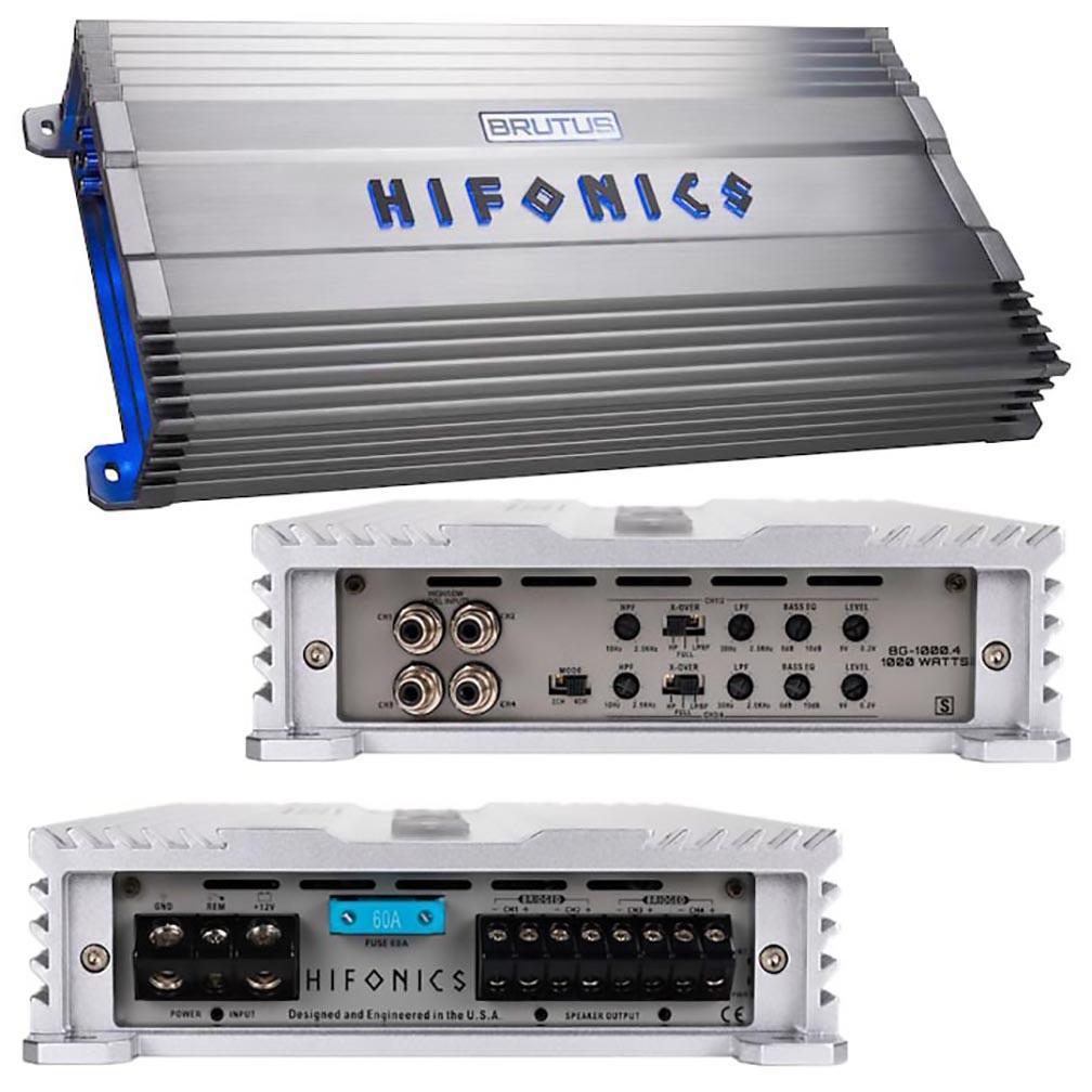 Hifonics Brutus Gamma Series 1000 Watts 4 Channel @ 4 Ohm AB