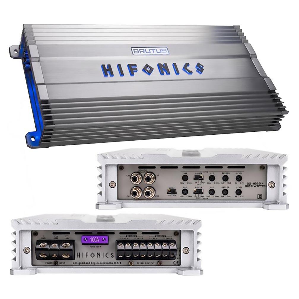 Hifonics Brutus Gamma Series 1600 Watts 4 Channel @ 4 Ohm AB