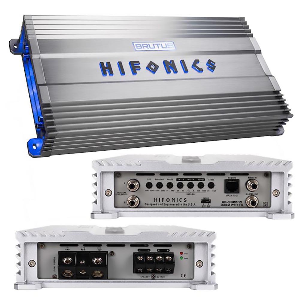 Hifonics Brutus Gamma Series 1 x 3300 Watts @ 1 Ohm Mono