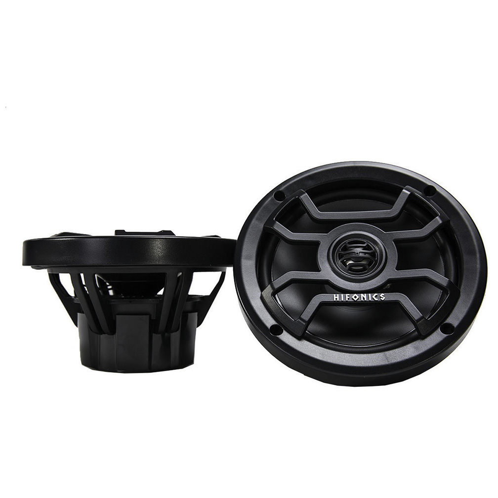 Hifonics 6.5 inch 2- Way Marine and Powersport Speakers 150 Watts Max Black