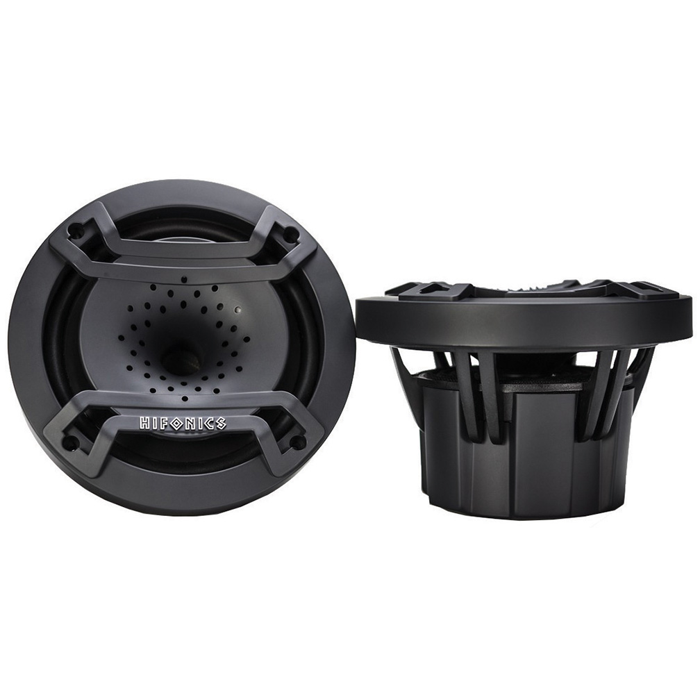 Hifonics 6.5 inch Marine Coincident Mounted Compression Horn Speaker 2 Color Illuminated Pair