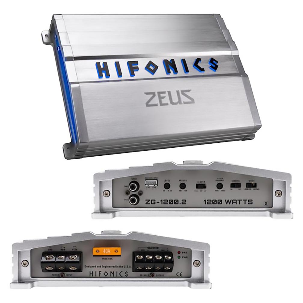 Hifonics Zeus Gamma Series 1200 Watts 2 Channel @ 4 Ohm AB